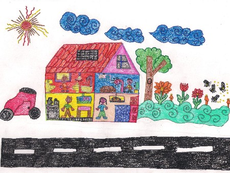 A casa e os carros solares