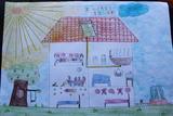 Casa com painel solar | Iara Maria de Caires Rodrigues - 9 anos (Externato Adventista do Funchal, Funchal)
