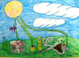 Uma aldeia com painéis solares | Daniel da Silva Macedo 8anos (Escola EB1/JI da Charneca, Guimarães)