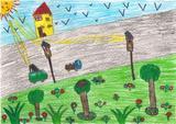 trânsito sem poluição | Daniela Patrícia Antunes Lameiras, 8 anos (Escola EBI Infante D. Pedro - Agrup., Penela)